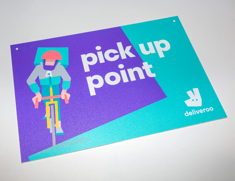 Deliveroo - 'Hanging' Rider Pick Up Point Sign