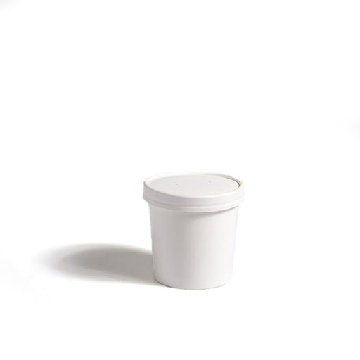 8oz White PE-Lined Soup Container