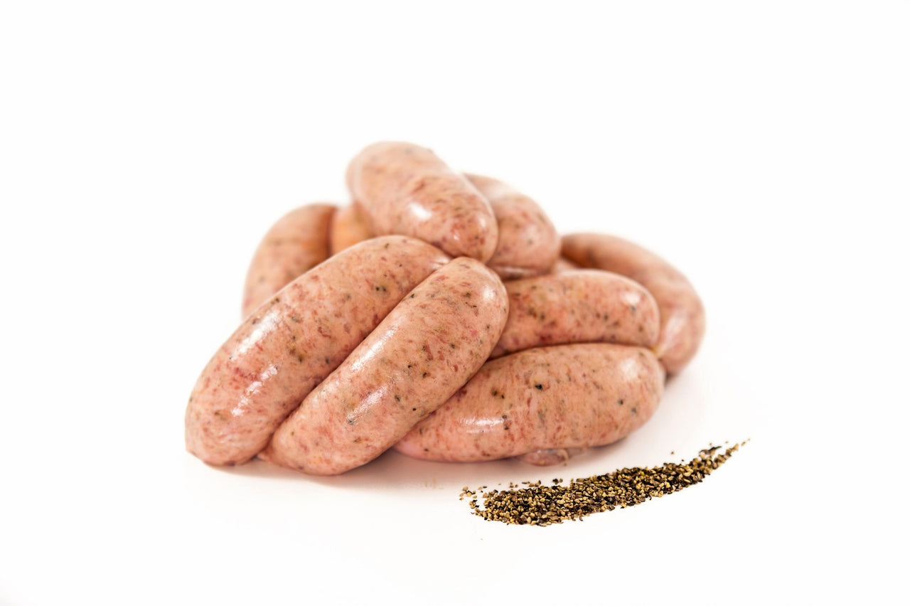 Pork Sausage with cracked black pepper
