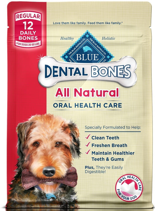 Blue Buffalo Bones Natural Dental Chew Bones