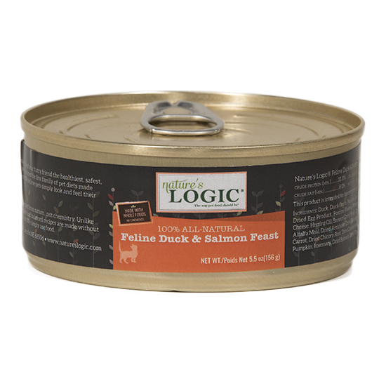Nature's Logic Feline Grain Free Duck and Salmon Feast Canned Cat Food