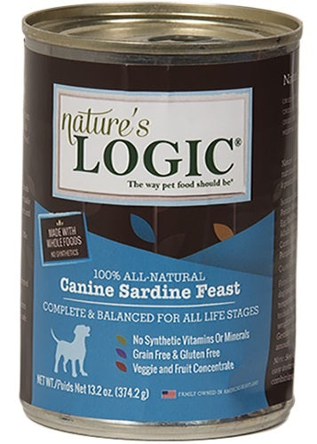 Nature's Logic Canine Grain Free Sardine Feast Canned Dog Food