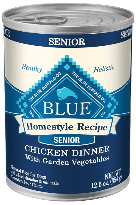 Blue Buffalo Homestyle Senior Dinner Chicken with Garden Vegetables and Brown Rice Canned Dog Food