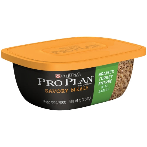 Purina Pro Plan Savory Meals Braised Turkey Entree with Barley Adult Dog Food