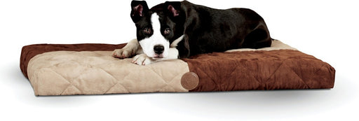 K&H Pet Products Chocolate Quilted Memory Dream Bed