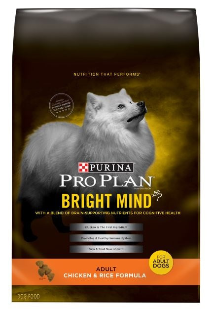 Purina Pro Plan Bright Mind Adult Chicken and Rice Formula Dry Dog Food