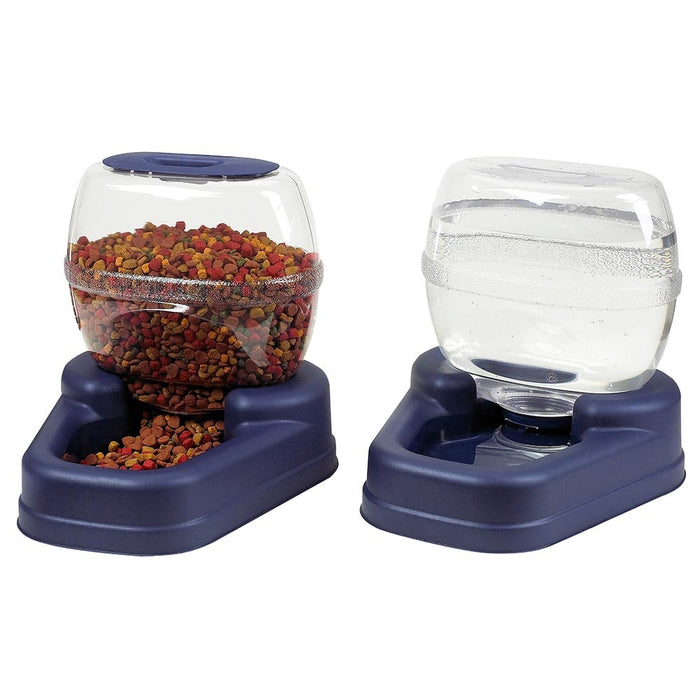 Bergan Petite Gourmet Combo Pack Pet Feeder and Waterer