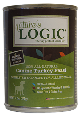 Nature's Logic Canine Grain Free Turkey Feast Canned Dog Food