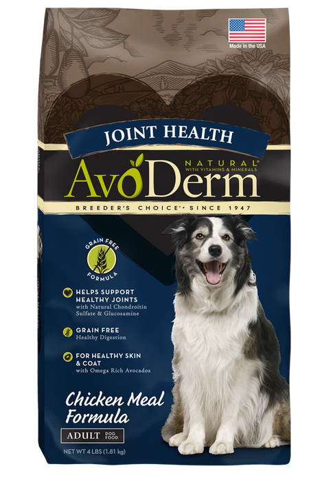 Avoderm Joint Health Adult Grain Free Chicken Meal Formula Dry Dog Food