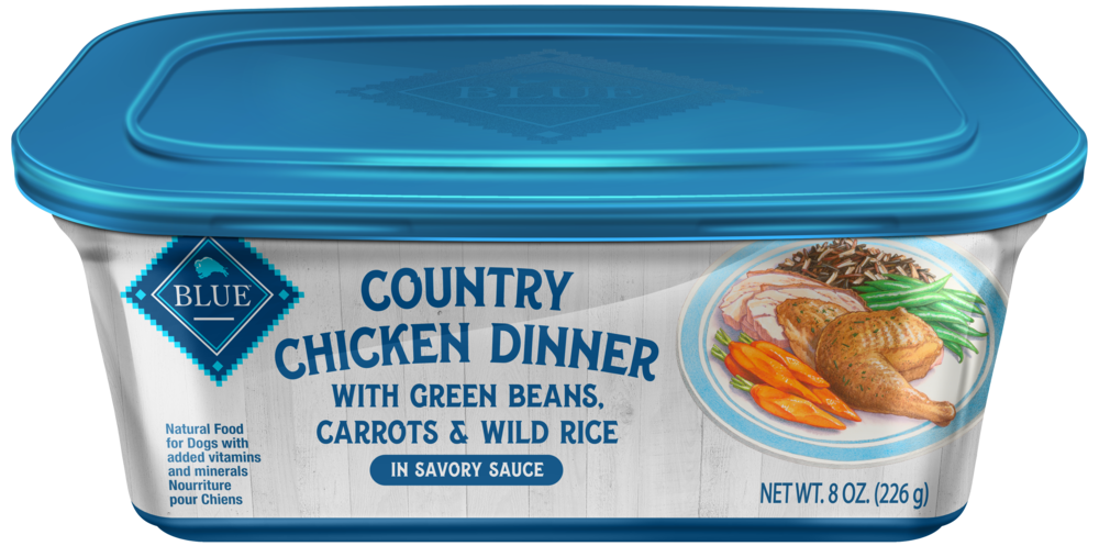 Blue Buffalo Country Chicken Dinner with Green Beans, Carrots and Wild Rice Dog Food Tray