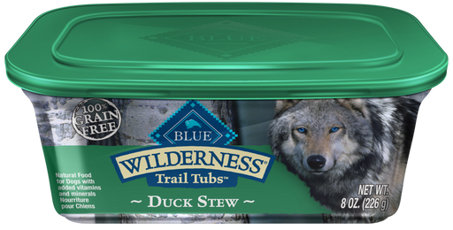 Blue Buffalo Wilderness Trail Tubs Grain Free Duck Stew Dog Food Tray