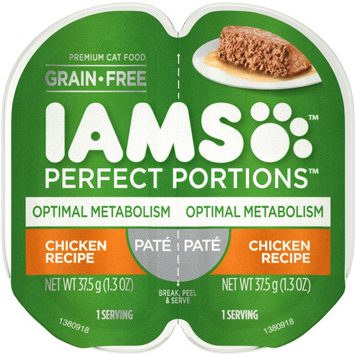 Iams Perfect Portions Optimal Metabolism Chicken Pate Wet Cat Food Tray