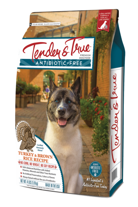 Tender & True Antibiotic-Free Turkey and Brown Rice Recipe Dry Dog Food