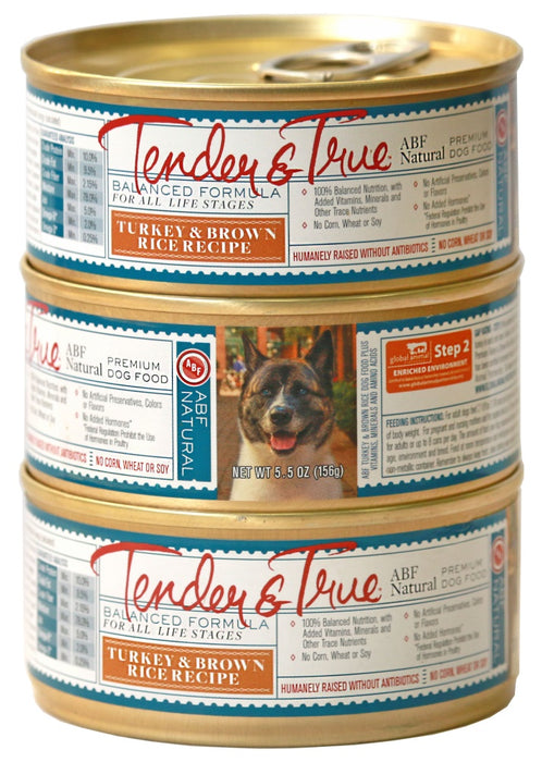 Tender & True Antibiotic-Free Turkey and Brown Rice Recipe Canned Dog Food
