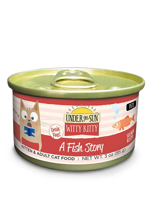 Canidae Under the Sun Witty Kitty: A Fish Story Grain Free Salmon Pate Canned Cat Food
