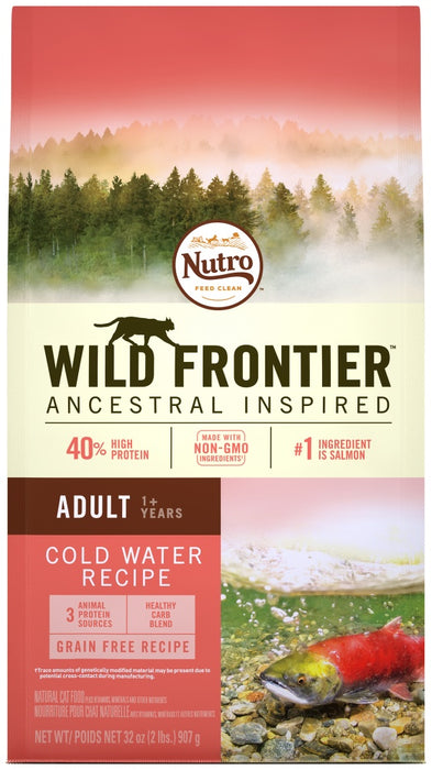 Nutro Wild Frontier Grain Free Adult Cold Water Salmon Recipe Dry Cat Food