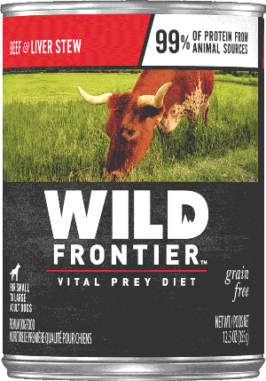 Wild Frontier Vital Prey Grain Free Beef and Liver Stew Canned Dog Food