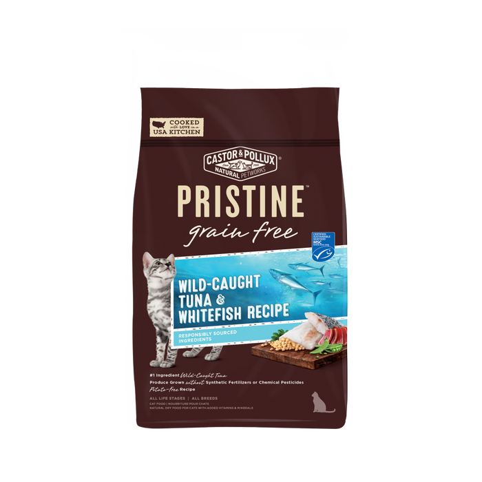 Castor and Pollux Pristine Grain Free Wild Caught Tuna and Whitefish Recipe Dry Cat Food