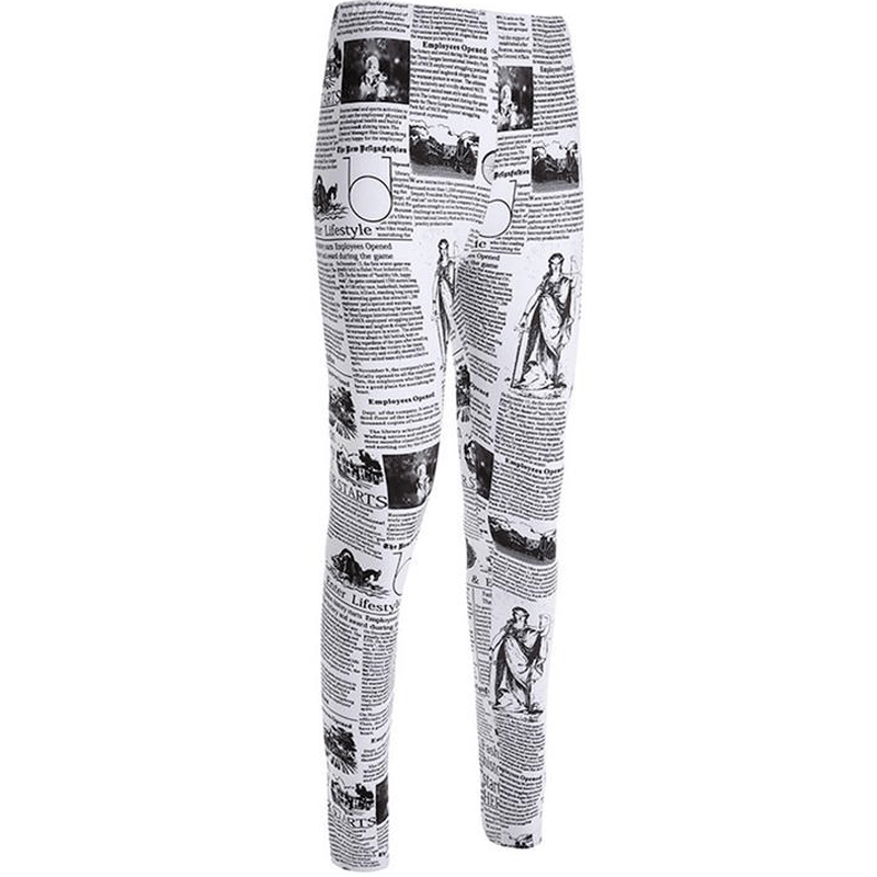 Krant Bedrukte Leggings