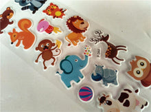 Leuke Cartoon dieren 3D stickers - 12 vellen