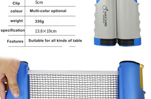 Tafeltennis Retractable Net Kit