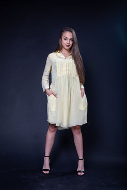 Crape Pleated Dress