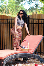 Bagru print cotton crop top