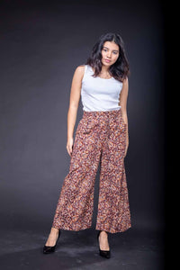 Printed Cotton Culotte Pants