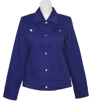 Red Hat Society Logo Denim Crystal Jacket