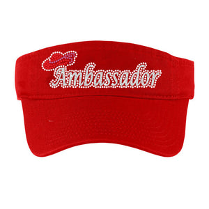 Red Hat Society Ambassador Sun Visor