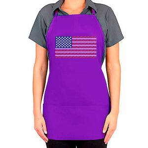 American Red Hat Society Flag Apron