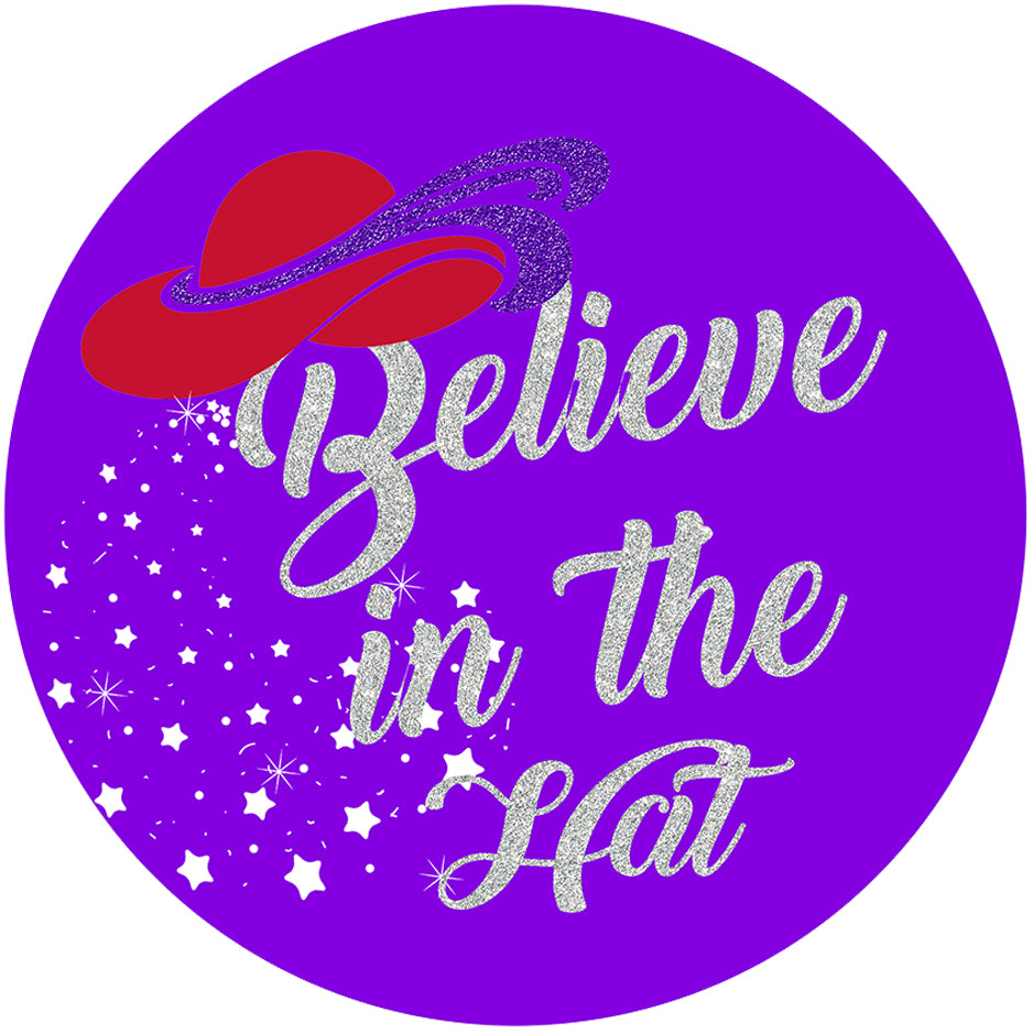 Believe in The Hat Iron on Patch