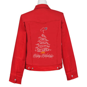 Hatty Holidays Denim Crystal Jacket