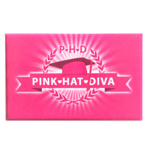 Pink Hat PHD Button Pin
