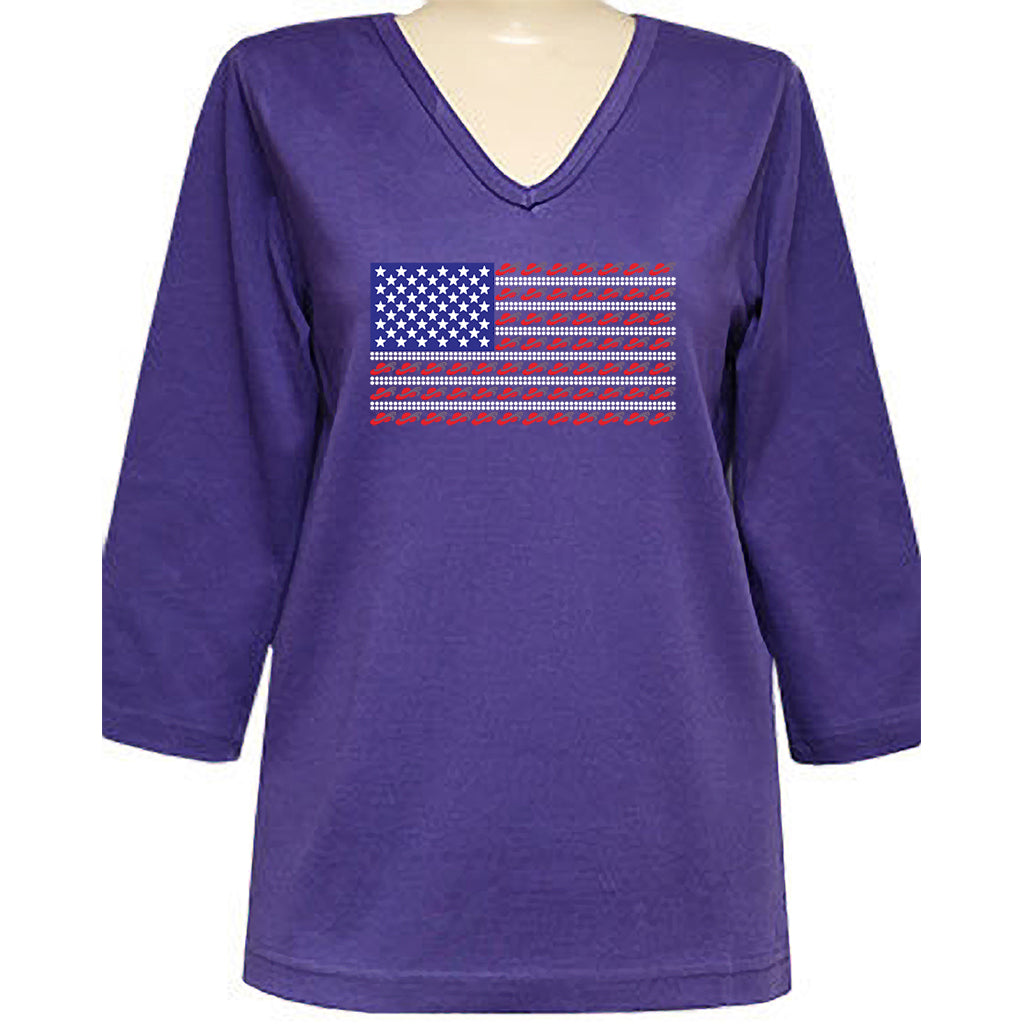 Red Hat Society Americana Classic 3/4 Sleeve Shirt