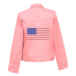 Americana Denim Crystal Jacket