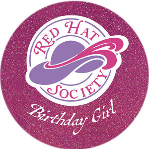 Birthday Girl Button Pin