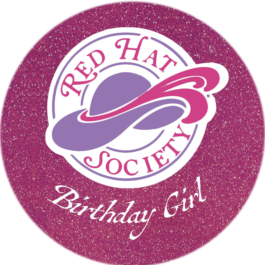 Red Hat Society Button Pin
