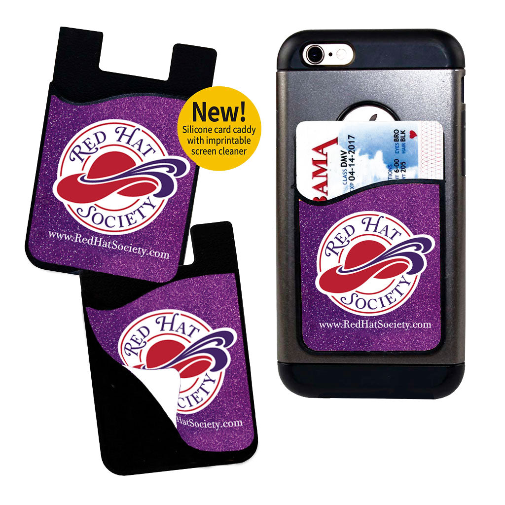 Red Hat Society Card Caddy Phone Wallet