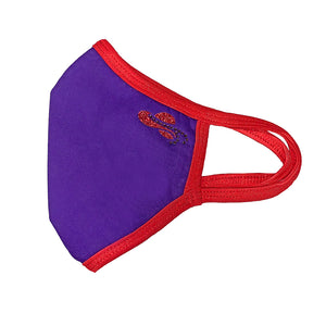Red Hat Society Hat Face Mask Set