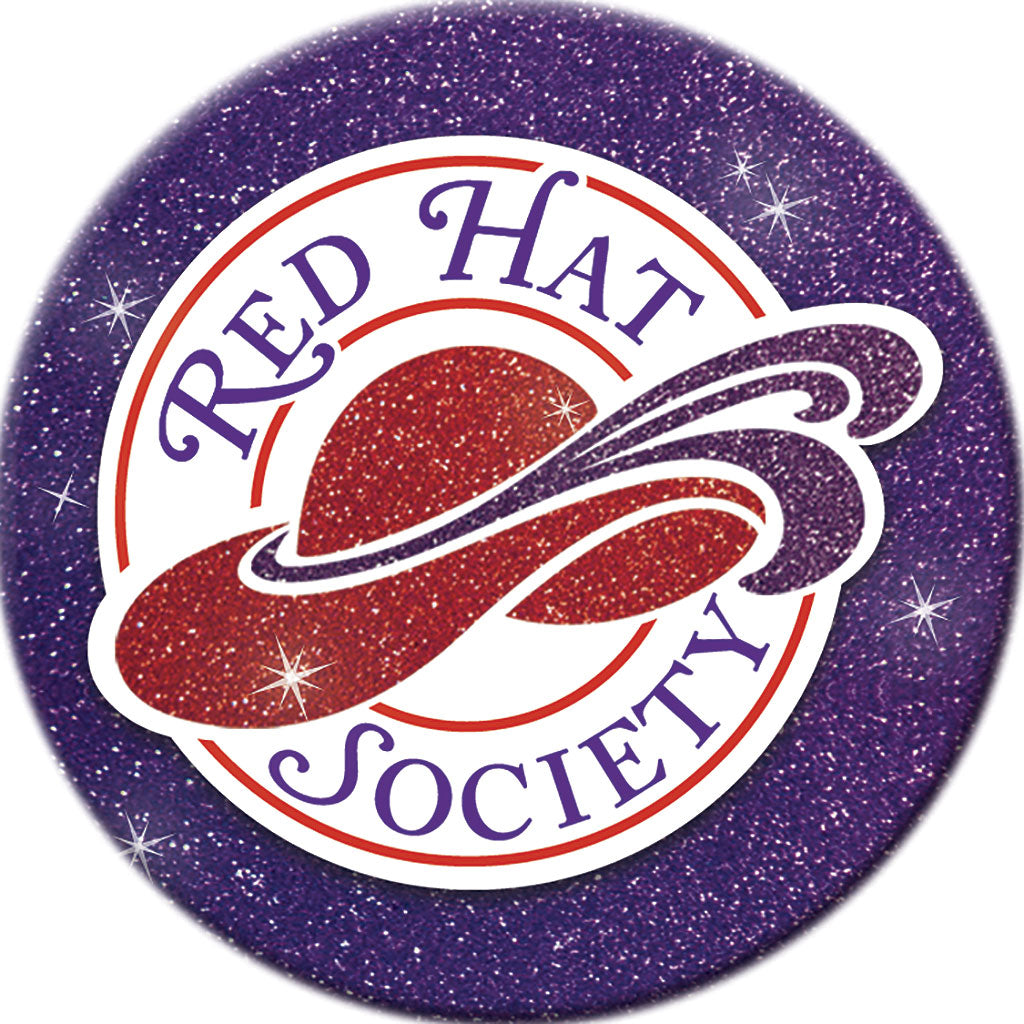 Red Hat Society Car Window Sign