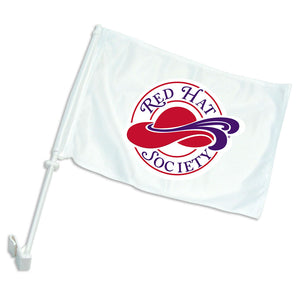 Red Hat Society Logo Car Flag