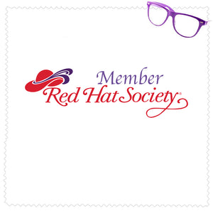 Custom Red Hat Society Microfiber Cleaning Cloth