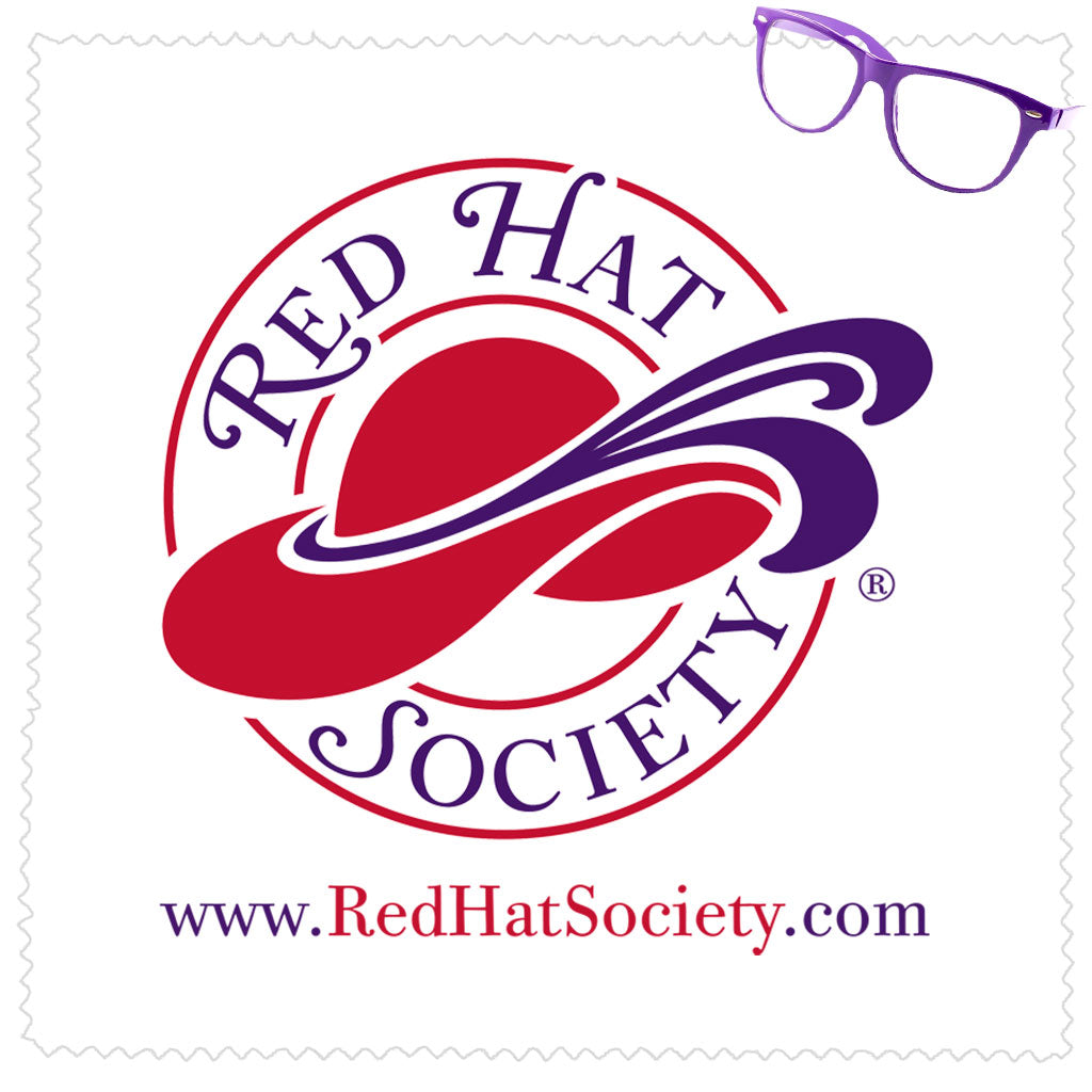 Red Hat Society Microfiber Cleaning Cloth