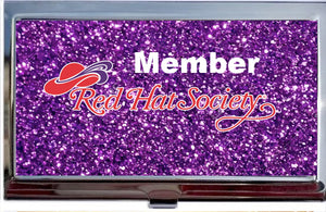 Red Hat Society Logo Calling Card Holder