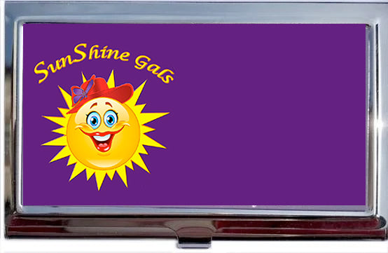 SunShine Custom Logo Calling Card Holder