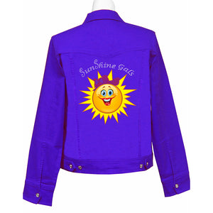 SunShine Gals Denim Crystal Jacket