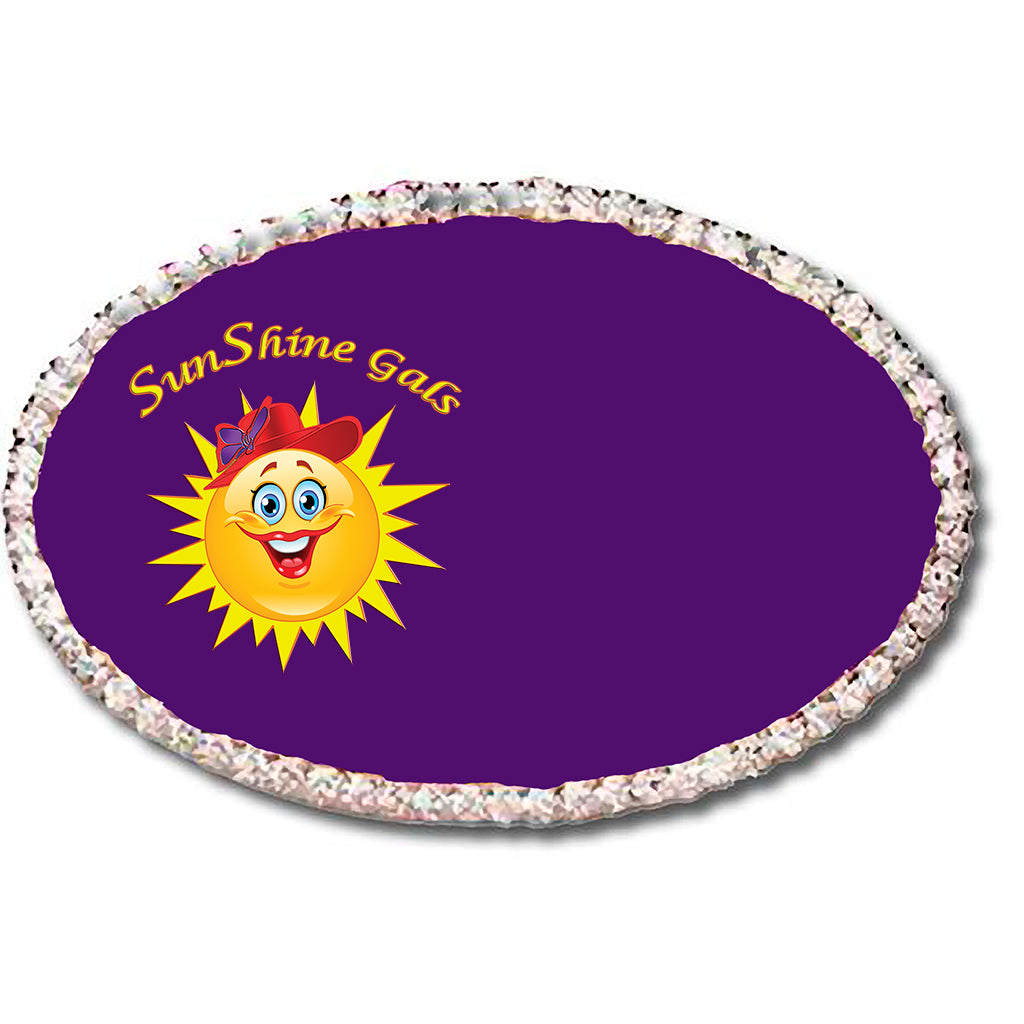 SunShine Gals Oval Custom Rhinestone Name Badge