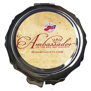 Ambassador Scalloped Mirror Compact
