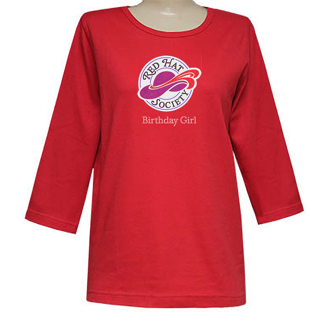 Red Hat Society Birthday Girl Short Sleeve Classic